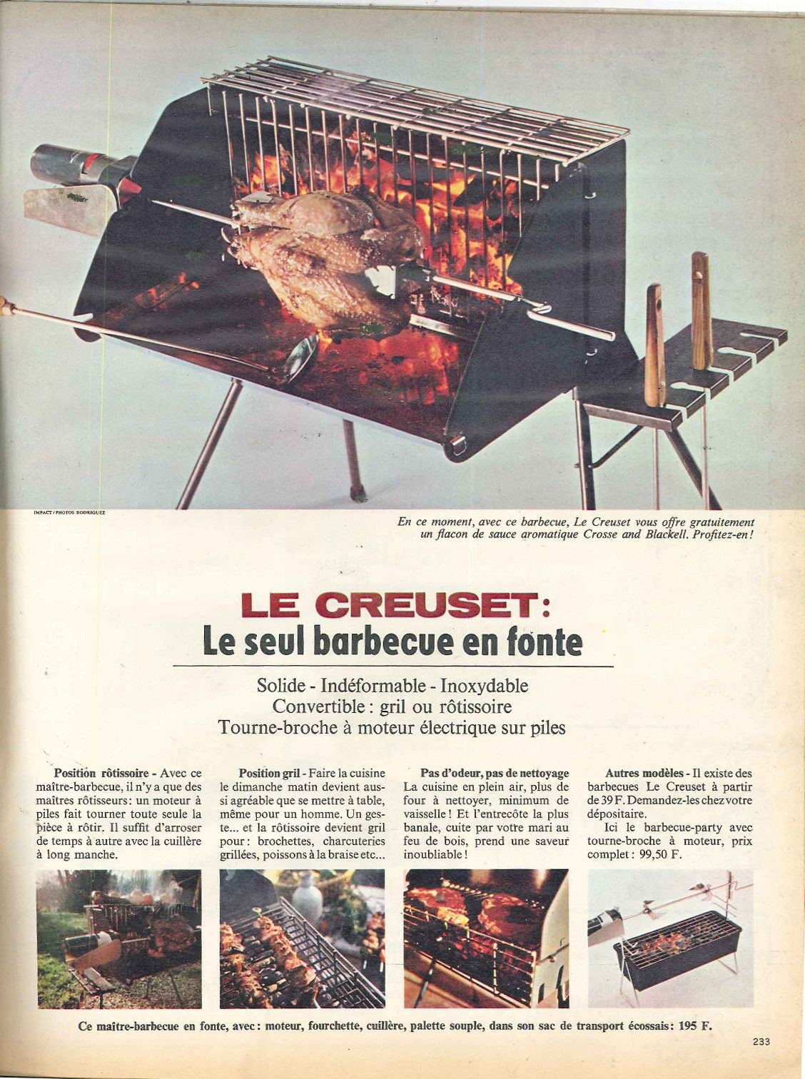 barbecue en fonte