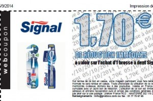 bon de réduction signal