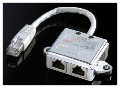 cable ethernet double sortie