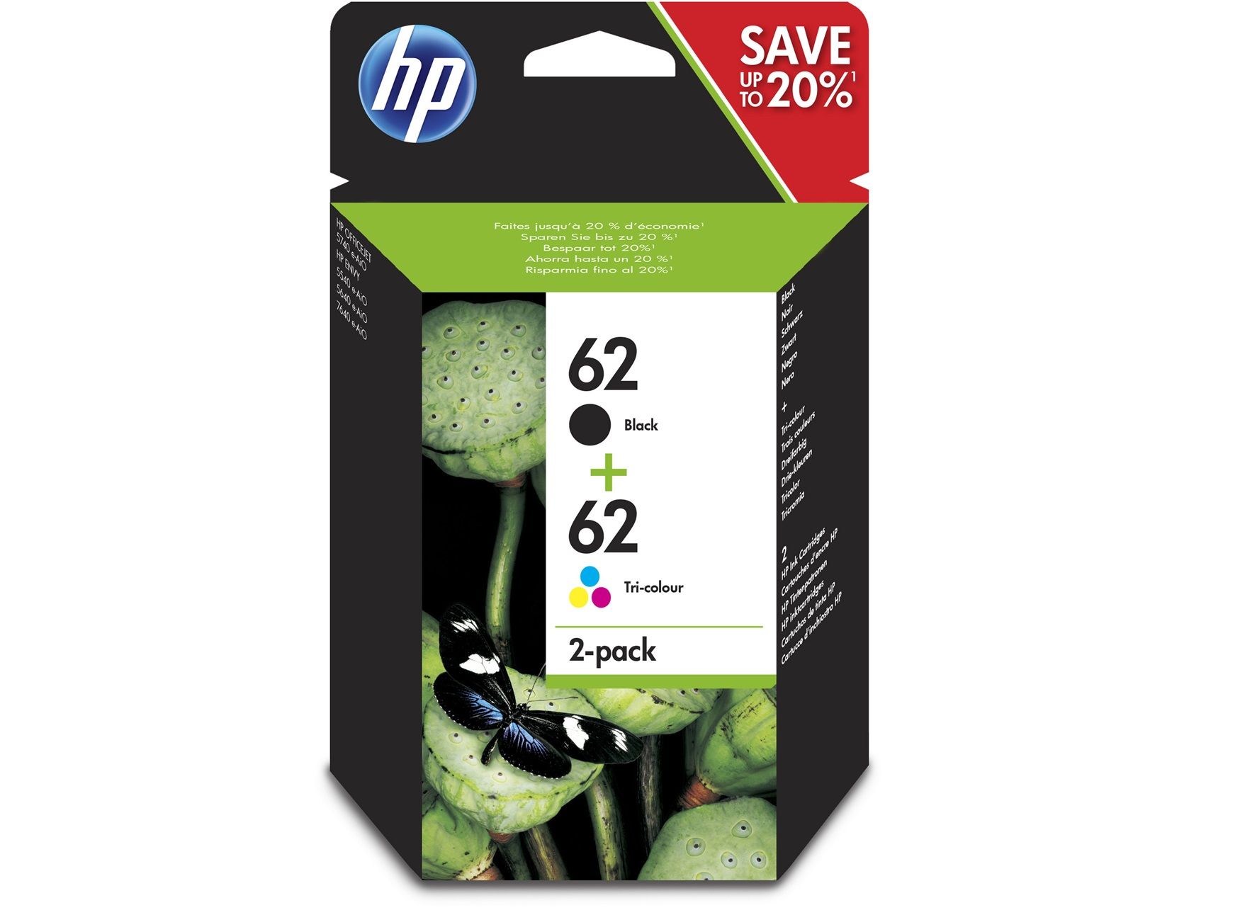 cartouche hp 62 pack