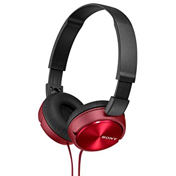 casque sony rouge