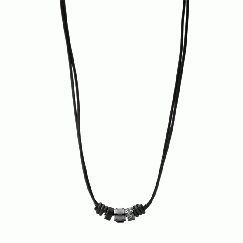 collier cuir homme fossil