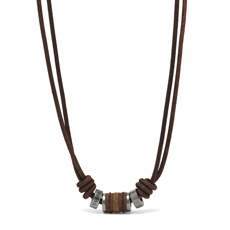 collier fossil homme