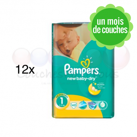 couche pampers baby dry taille 1
