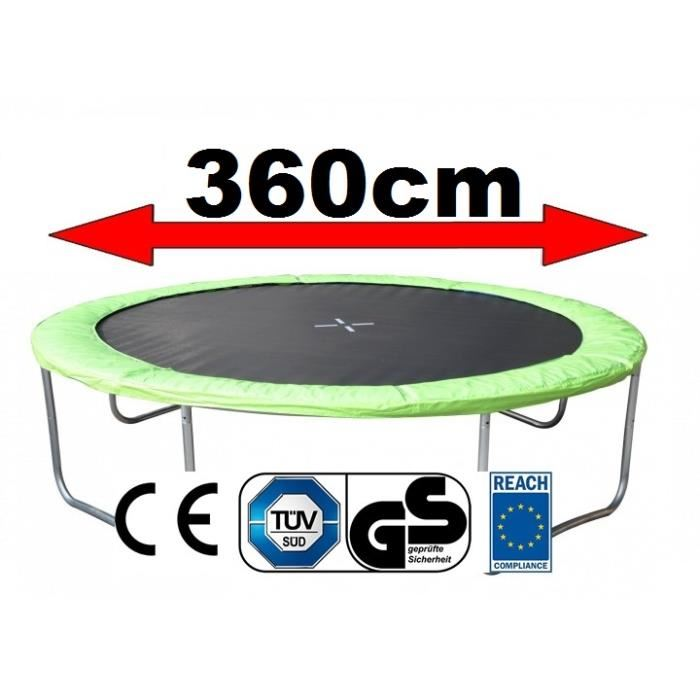 coussin protection trampoline 360