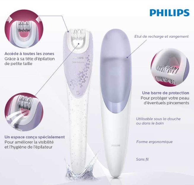 epilateur maillot philips