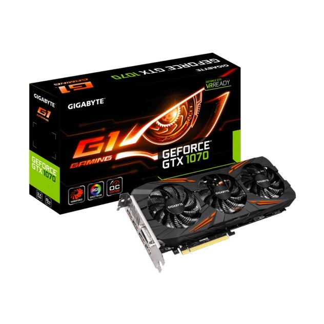 gigabyte carte graphique geforce® gtx 1070 g1 gaming 8go gddr5