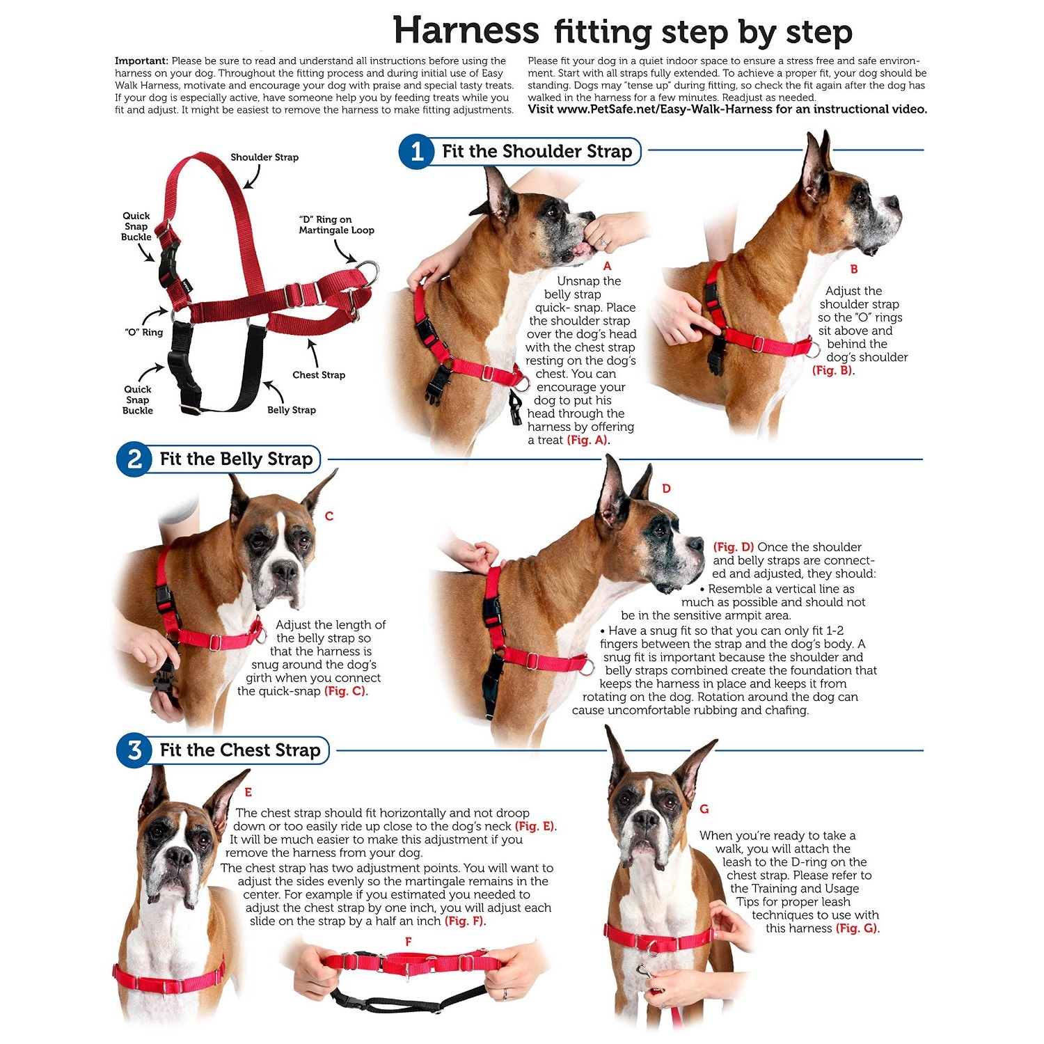 harnais easy walk petsafe