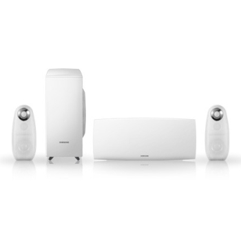 home cinema 2.1 blanc