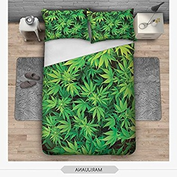 housse couette cannabis