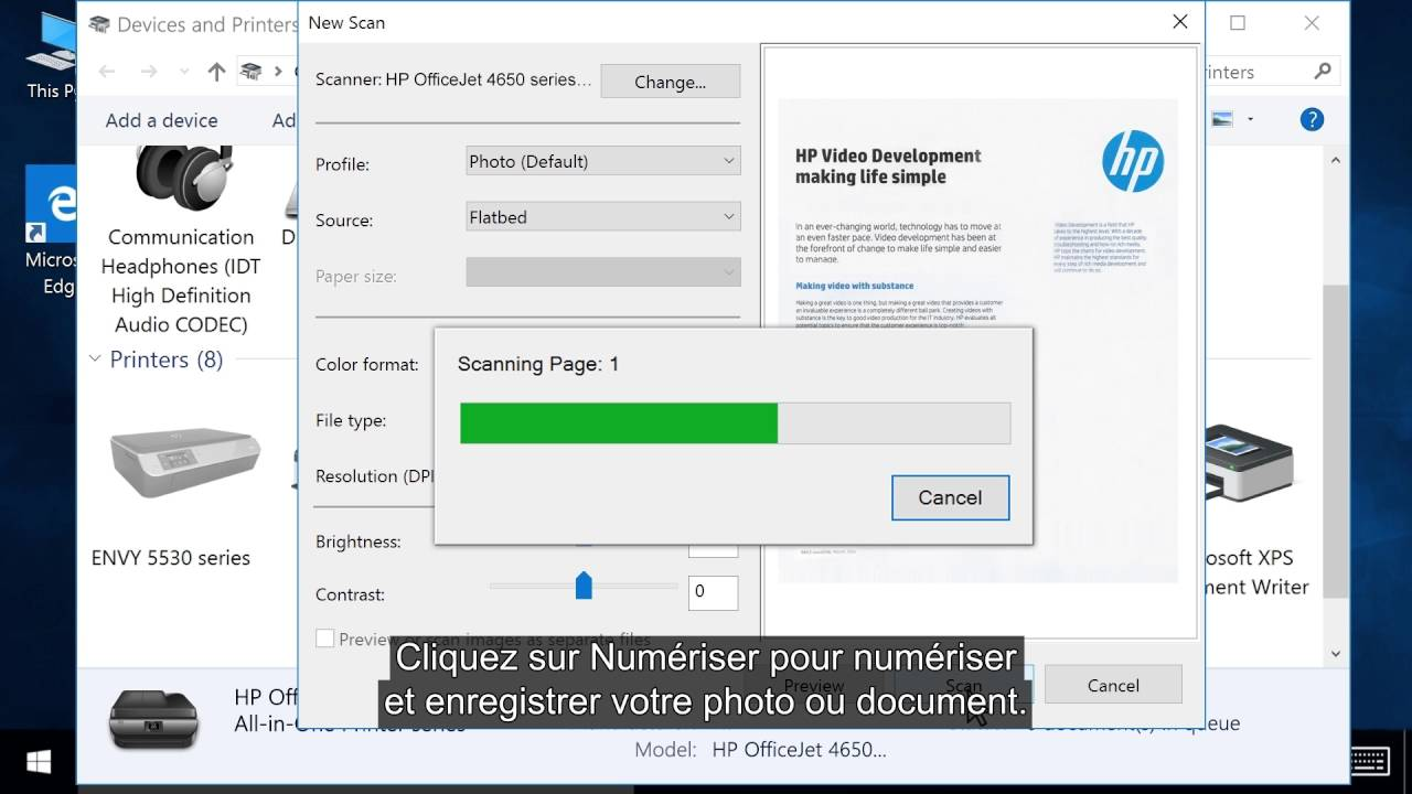 imprimante scanner compatible windows 10