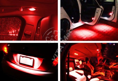 led rouge voiture