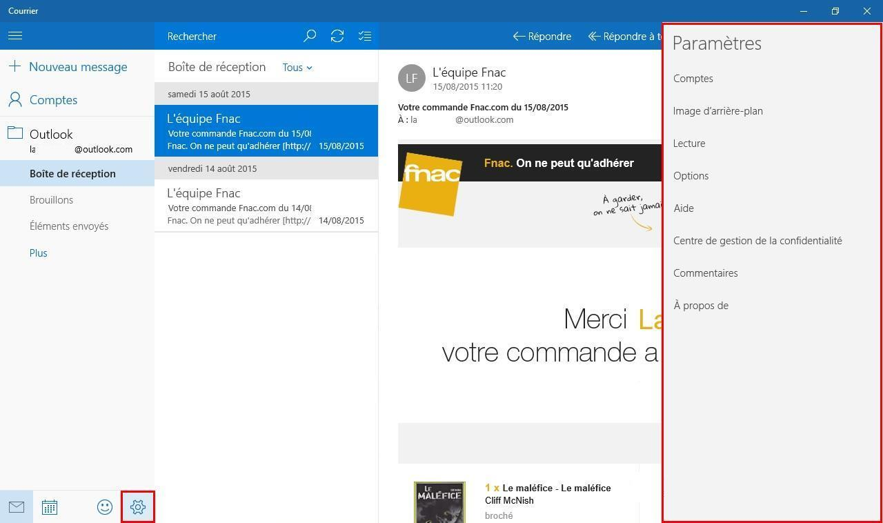 messagerie compatible windows 10
