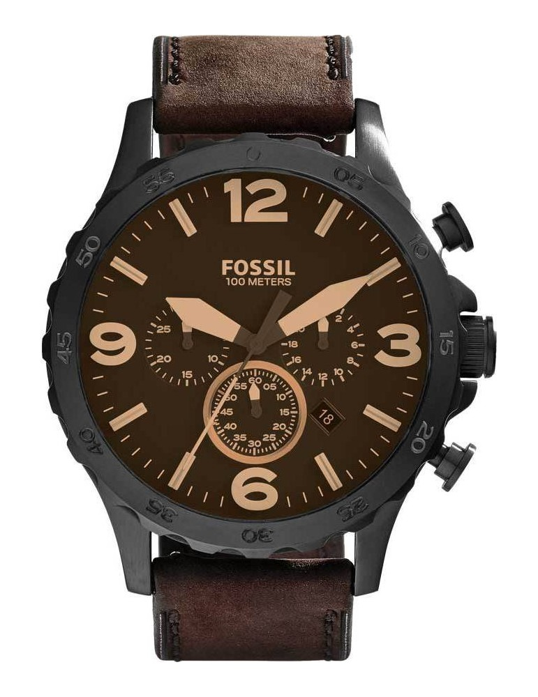 montre cuir fossil