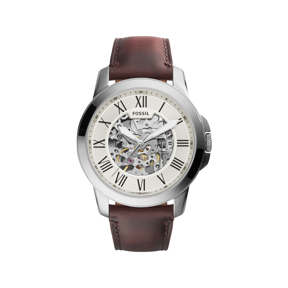 montre marron homme