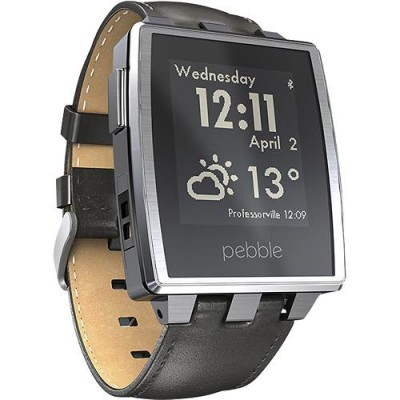 montre pebble steel