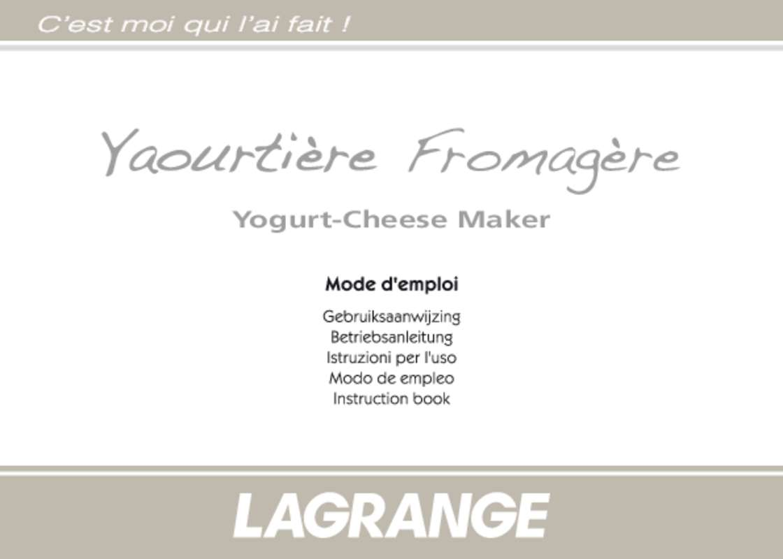 notice yaourtiere lagrange