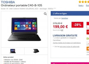 ordinateur portable 200 euros