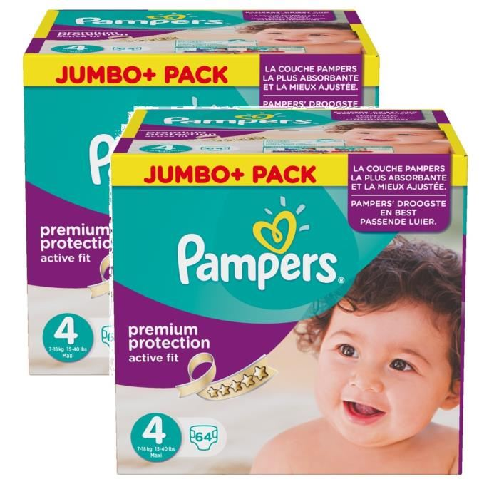 pampers jumbo pack taille 4
