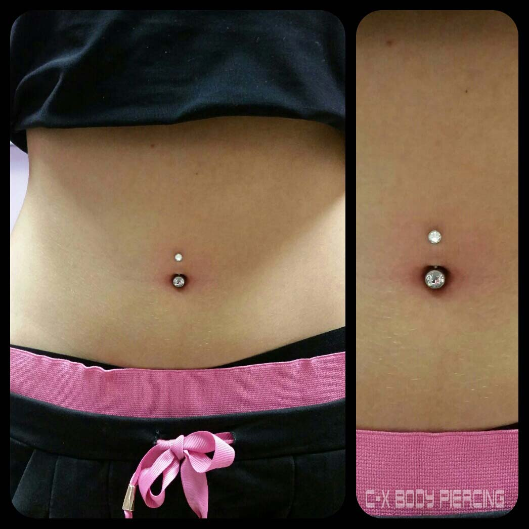 piercing nombril piscine