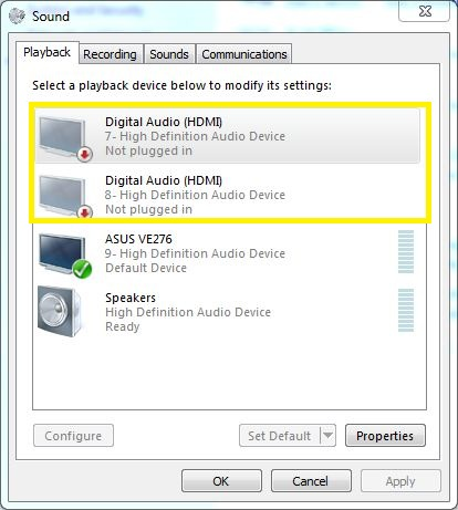 pilote hdmi pour windows 7