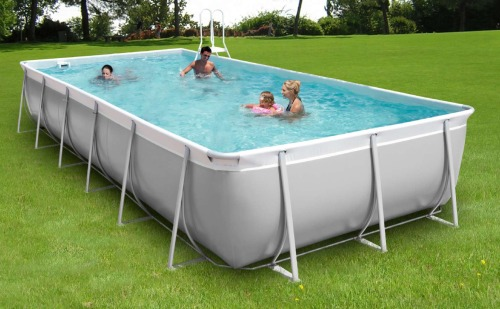 piscine rectangulaire tubulaire hors sol