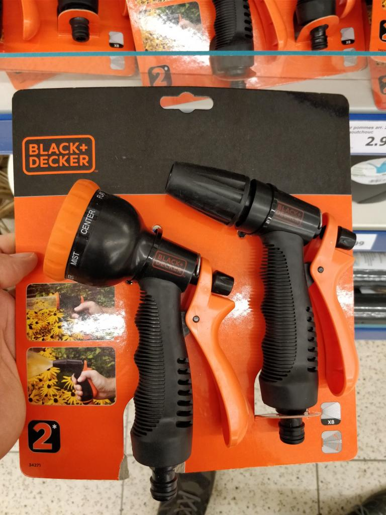 pistolet arrosage black et decker