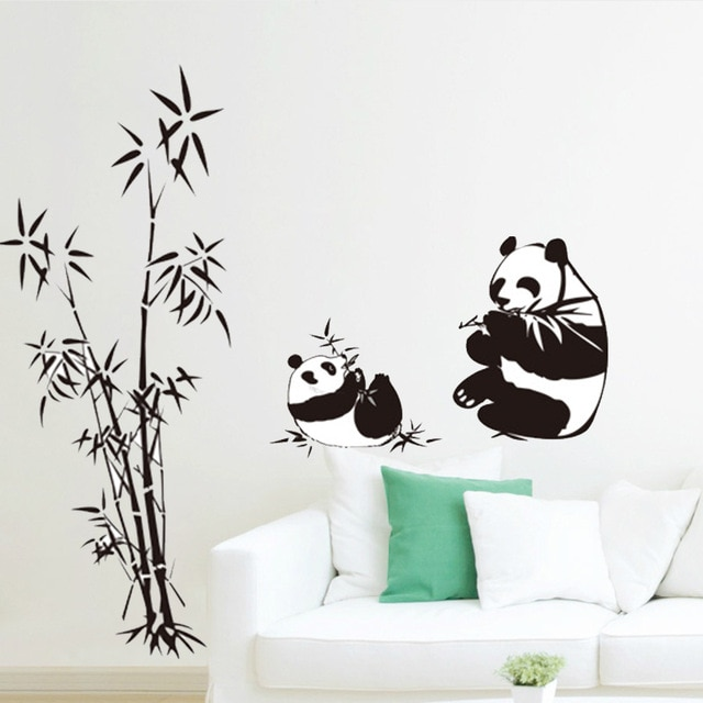 sticker mural bambou