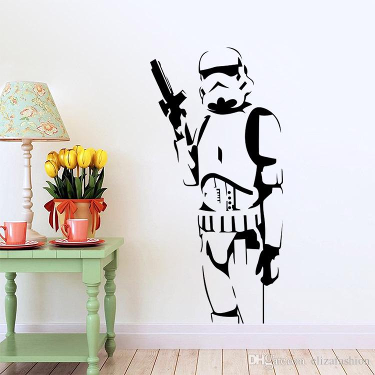 sticker mural star wars