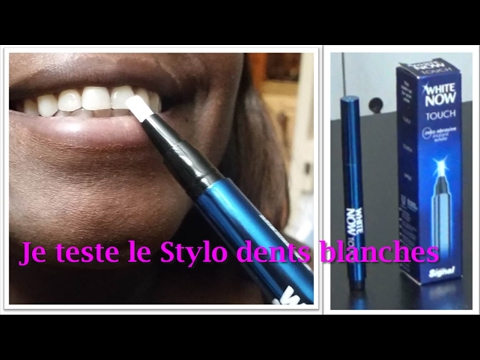 stylo dent blanche