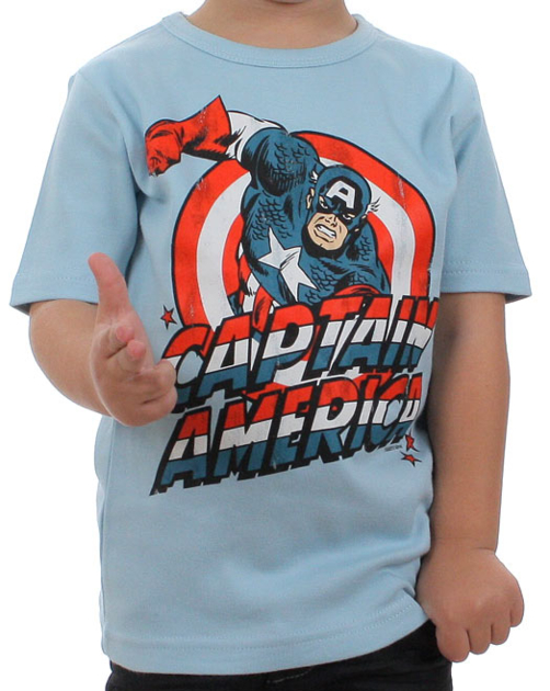 t shirt captain america enfant