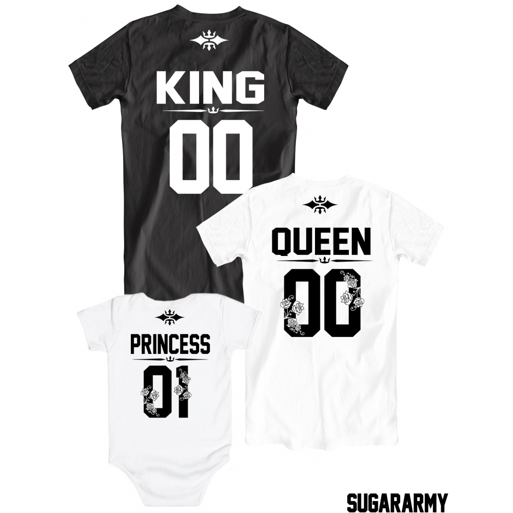 t shirt king queen princess