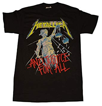 t shirt metallica and justice for all