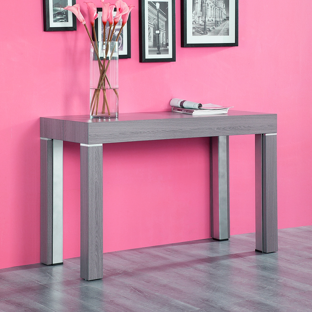 table console extensible grise
