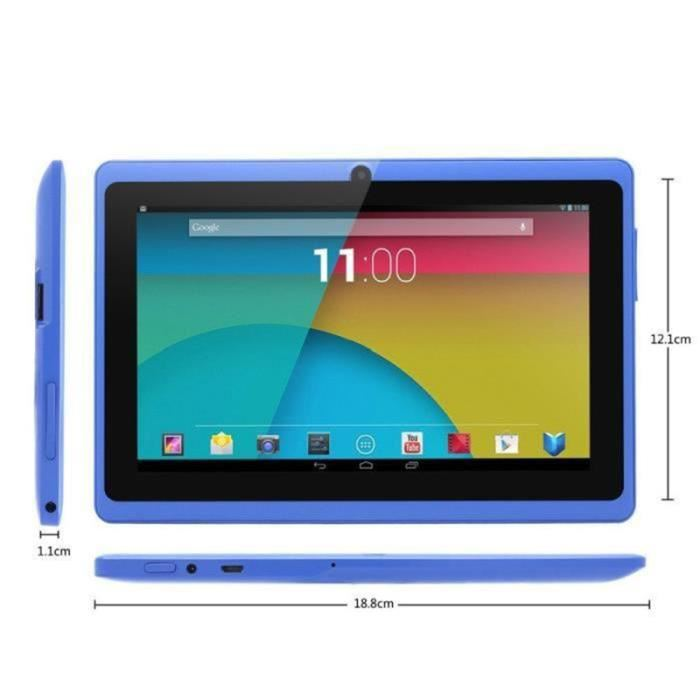 tablette tactile bleu