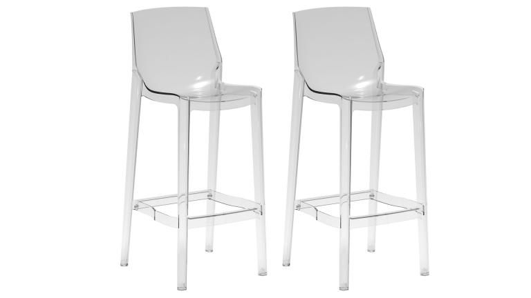 tabouret de bar en polycarbonate transparent