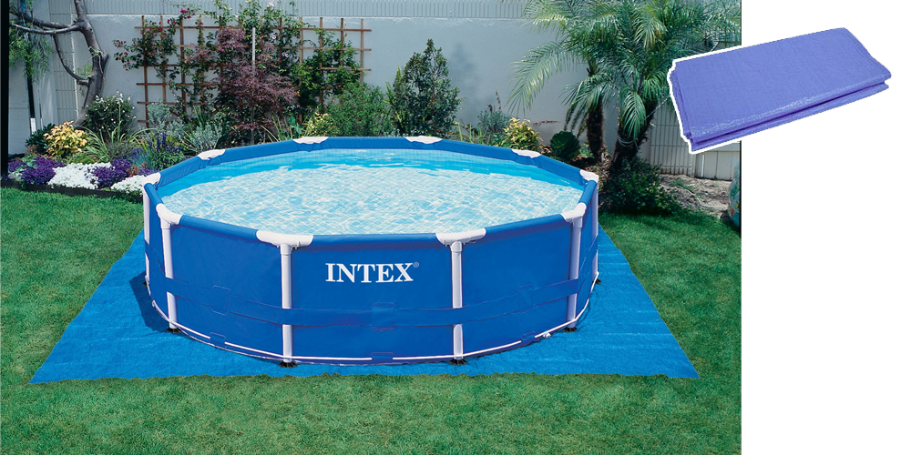 tapis pour piscine intex