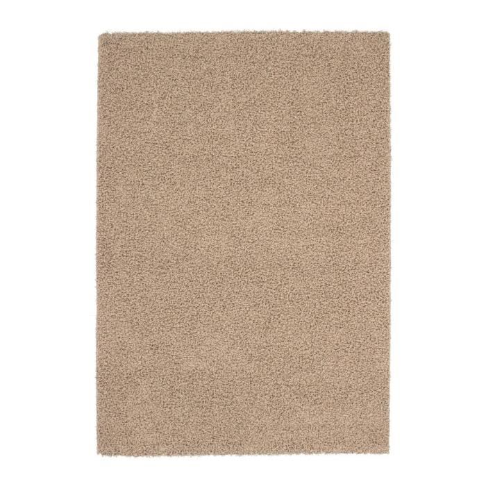 tapis shaggy beige