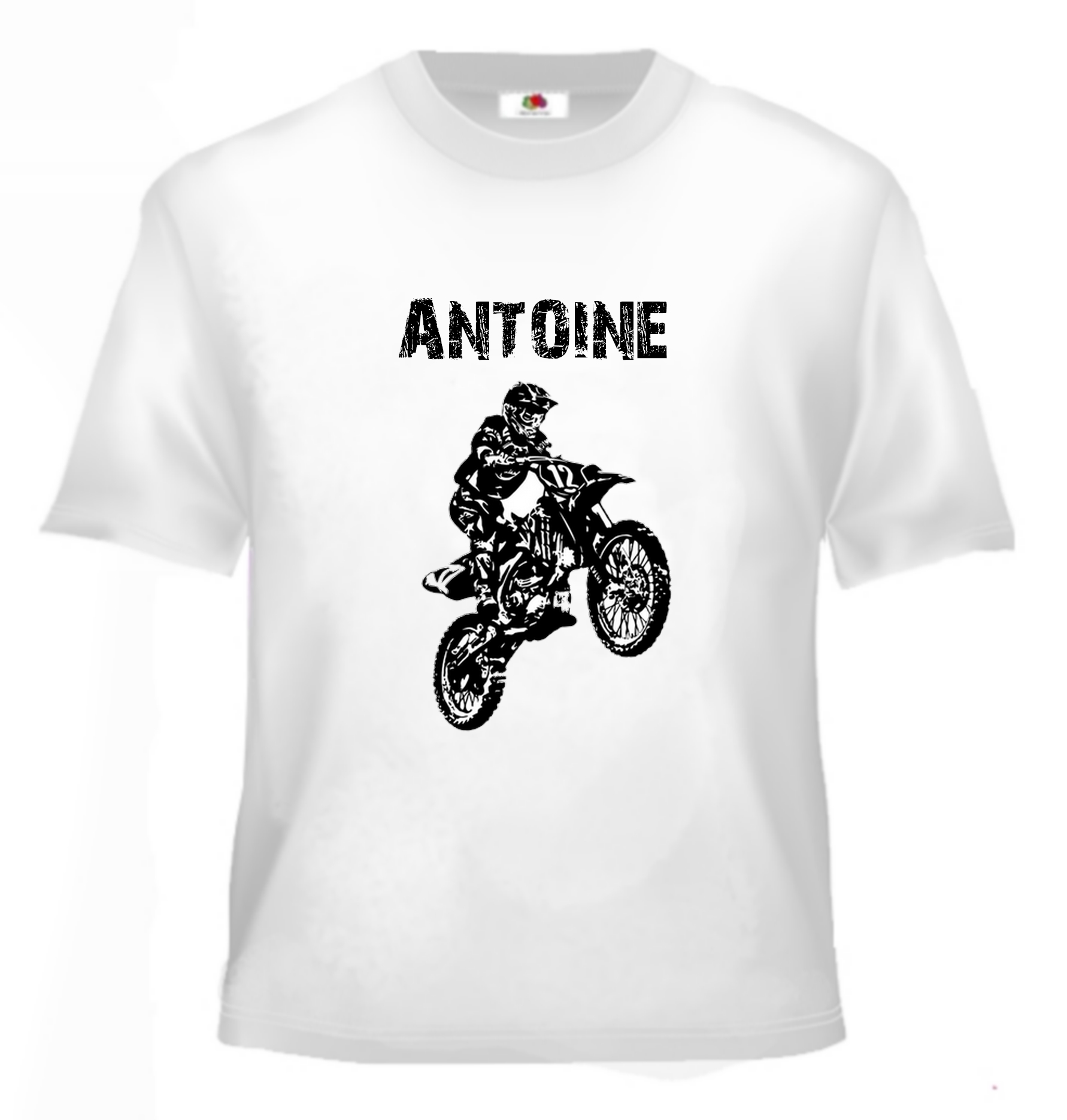 tee shirt moto cross enfant