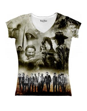 tee shirt the walking dead femme