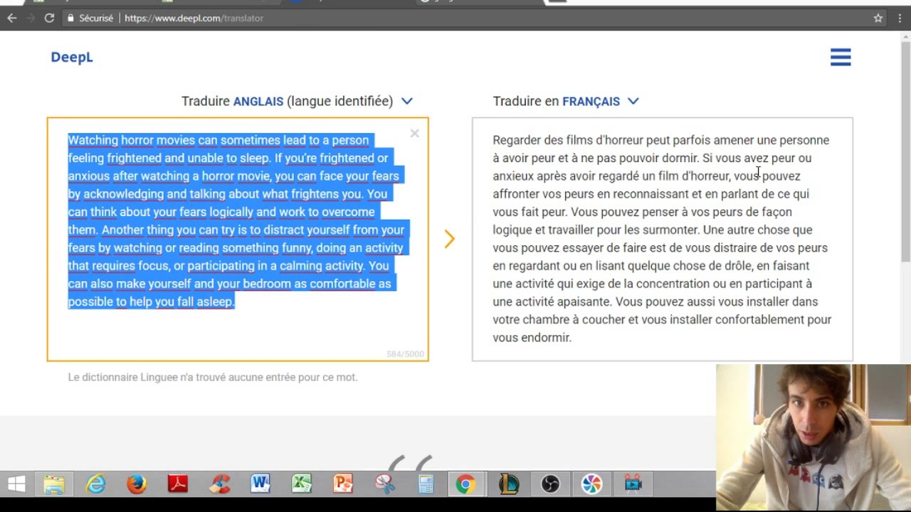 traduction francais anglais