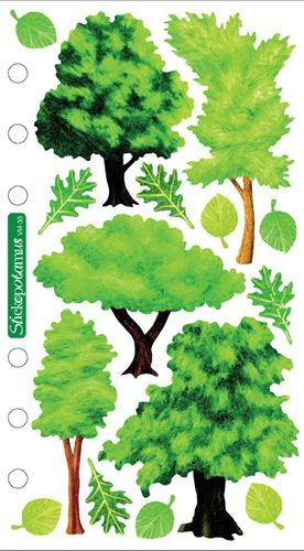 tree stickers for scrapbooking